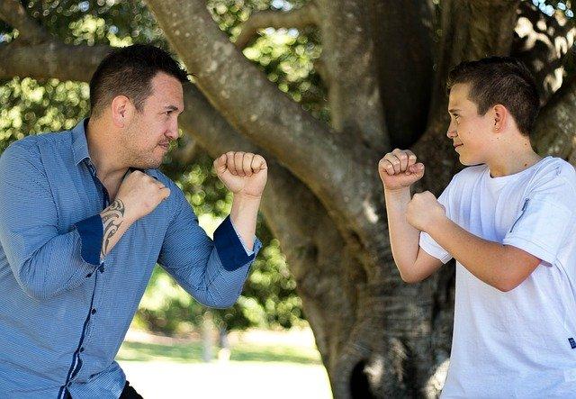 bojování s otcem
